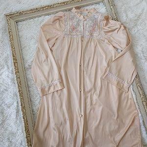 Vintage 1970s Lingerie Set Nightgown Robe sz sm